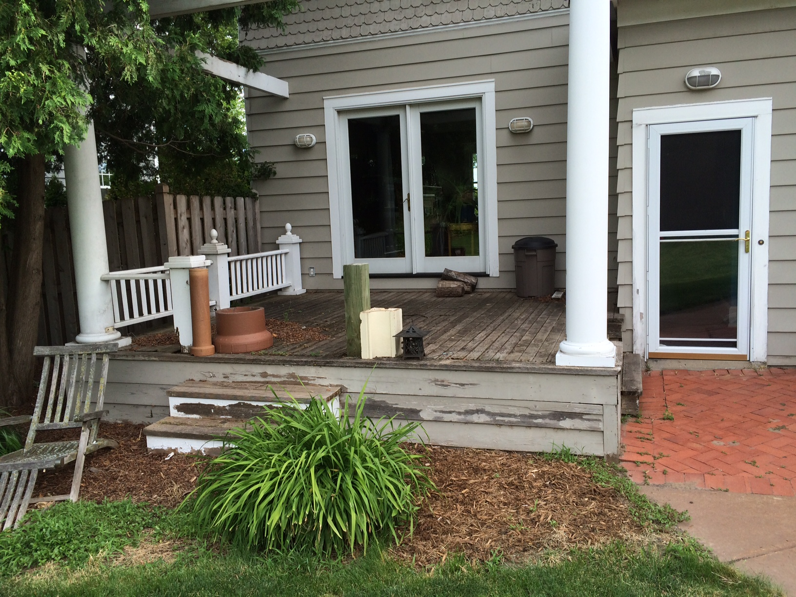 Deck Remodel Before