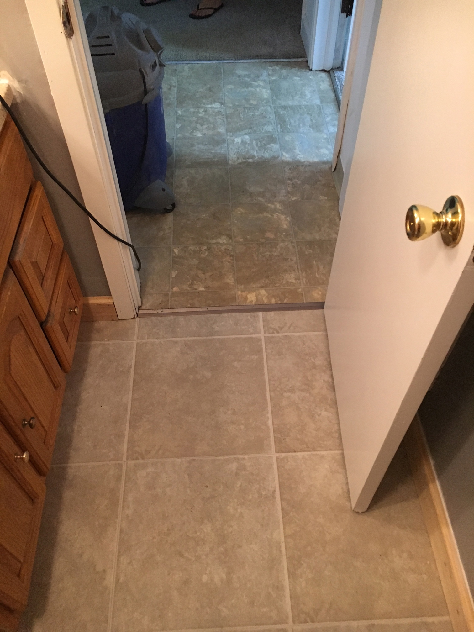 Bathroom Floor Remodel After 1