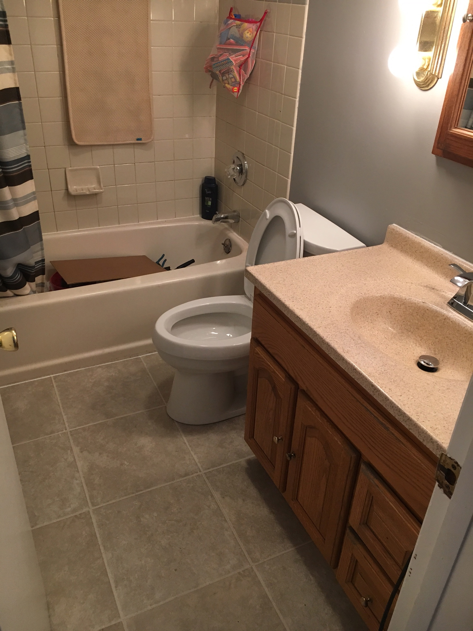 Bathroom Floor Remodel After 2